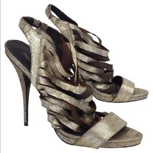 Elizabeth and James - Jan metallic distressed heel